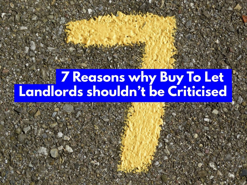 7 Reasons Why Doncaster Buy To Let Landlords Shouldn't Be Criticised