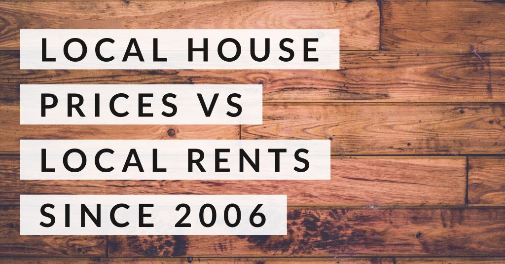 Doncaster House Prices vs Doncaster Rents since 2006