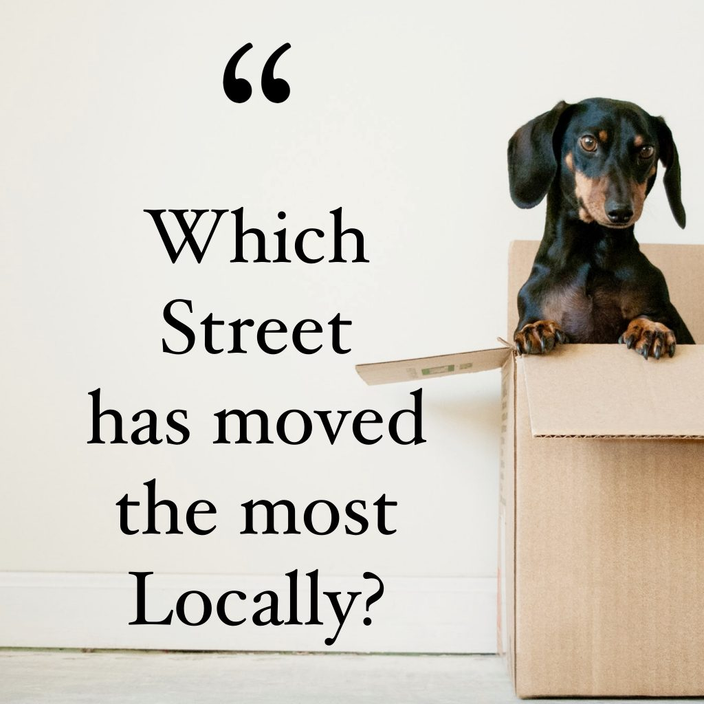 Which Street in Doncaster has seen the most homeowners moving in the last 3 years?
