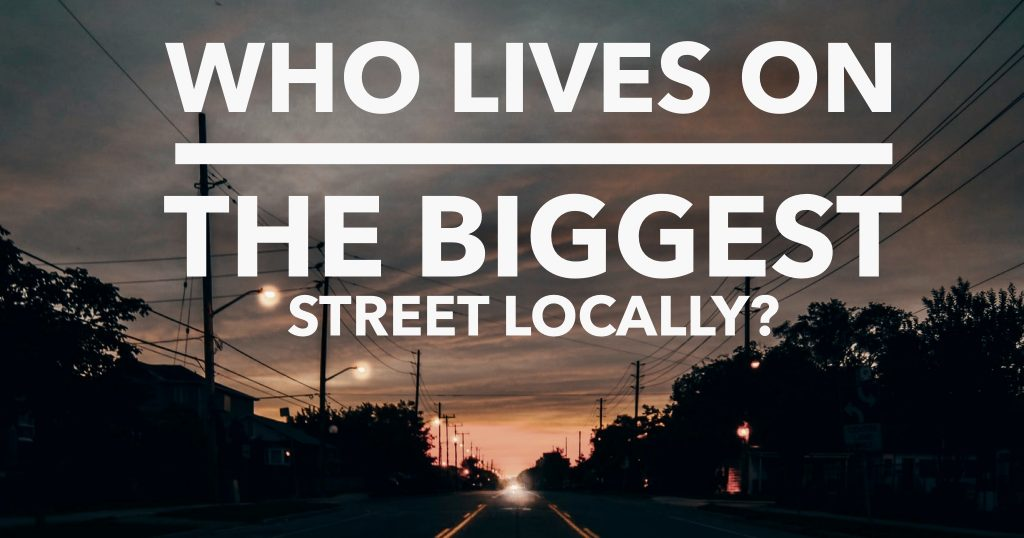 What's the biggest street in Doncaster (DN1)?