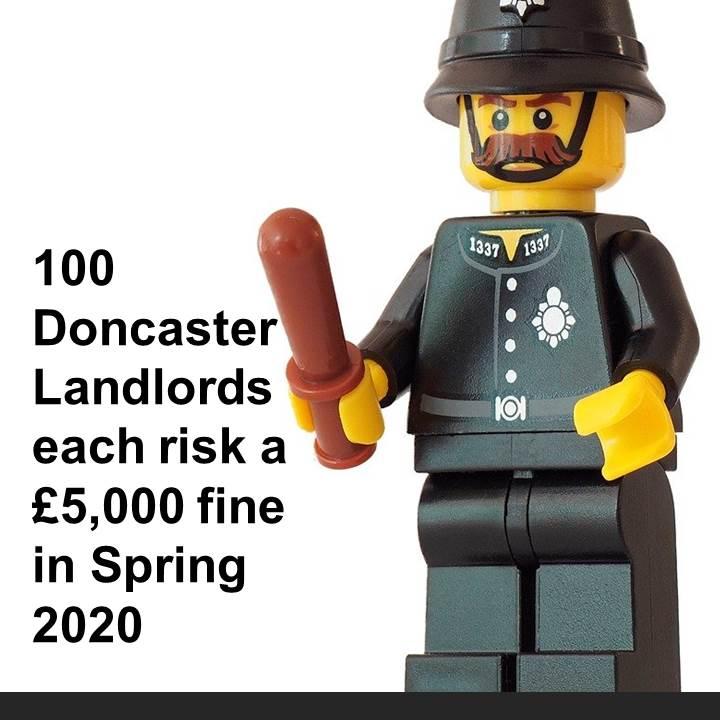 100 Doncaster Landlords each risk a £5,000 fine in Spring 2020